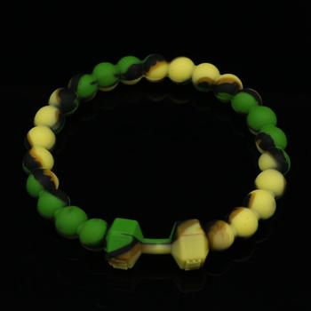 Bear Silicone Bracelets & Bangles Fashion Fitness Sports Machine Injection Molding Dumbbell Bracelet For Women Men Jewelry 1