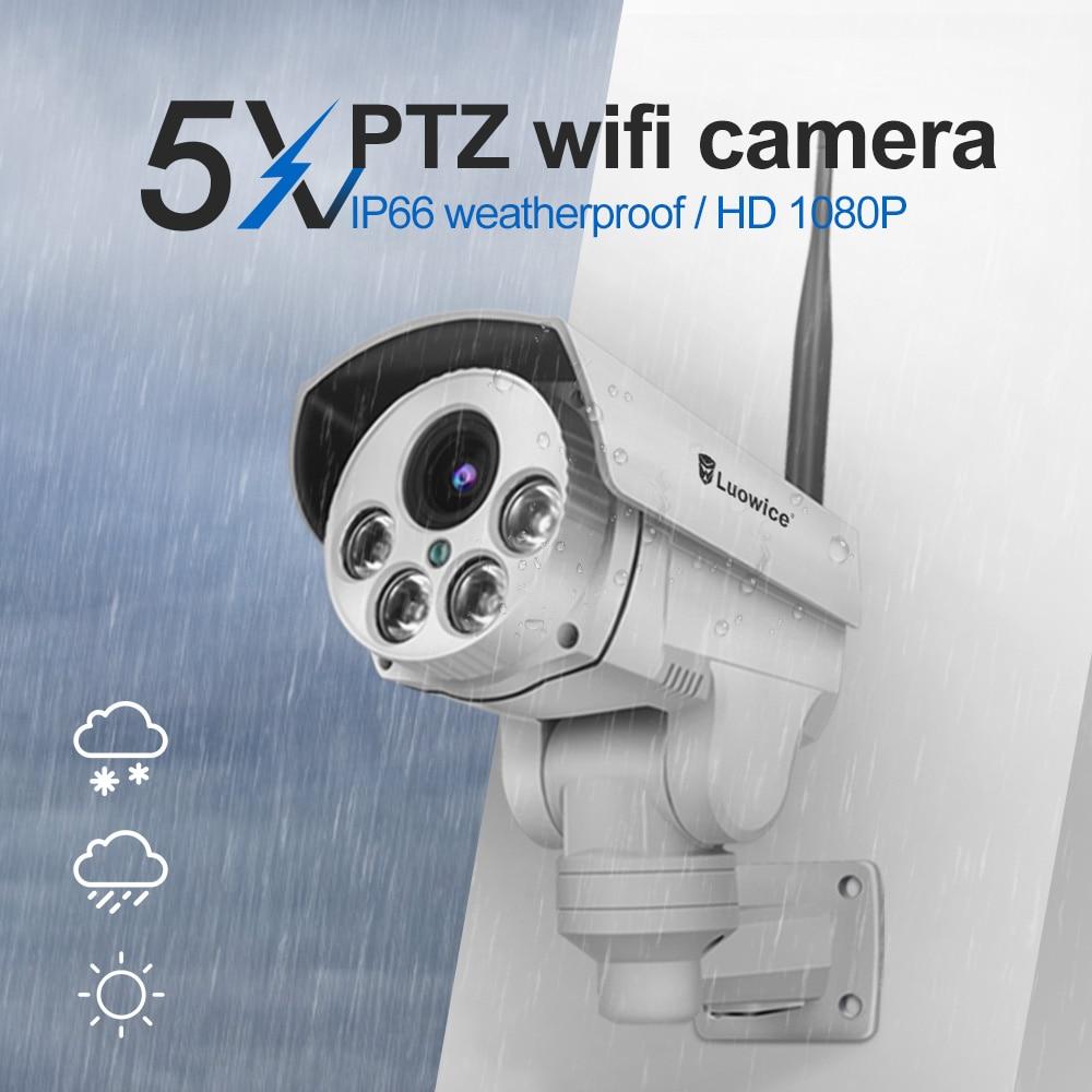 2MP caméra cctv Deux Voies audio Nuit invasion 5x zoom zoom optique 1080 p caméra de surveillance caméra ip étanche Wifi sans fil