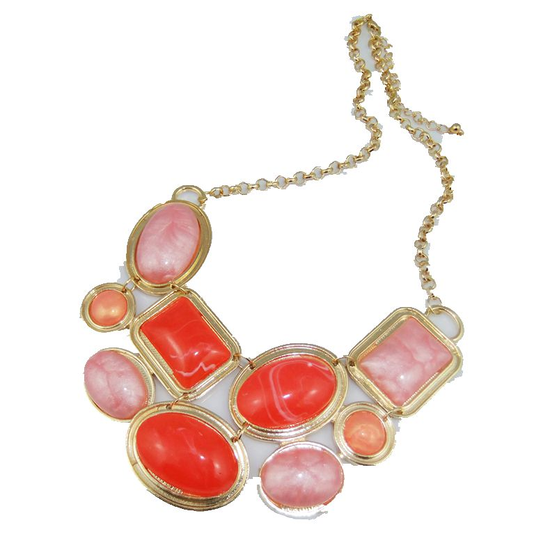 CirGen, 3 цвета модные цепи Богемия Multi цвет кулон из смолы себе воротник колье цепочки и ожерелья для женщин украшение, AF858