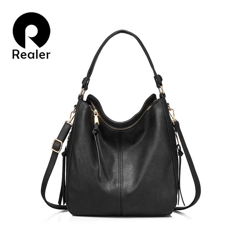 REALER handbags for women high quality shoulder bag women small crossbody messenger bag ladies fashion tote  artificial leather