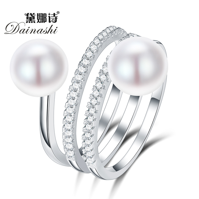 Dainashi trendy classic 925 sterling sliver natural freshwater colorful two pear