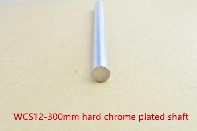 3D printer rod shaft 12mm linear shaft L 300mm chrome plated linear guide rail round rod shaft for cnc robot 1pcs