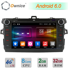 8″ 2GB RAM 32GB ROM Android 6.0 Octa Core 4G WIFI DAB BT Car DVD Player Radio Stereo For Toyota Corolla 2006-2011 GPS Navigation