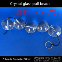 5 beads 30mm Crystal anal dildo anal plug pull beads butt plug anal toys sex products erotic toys sextoy adult sex toys for men