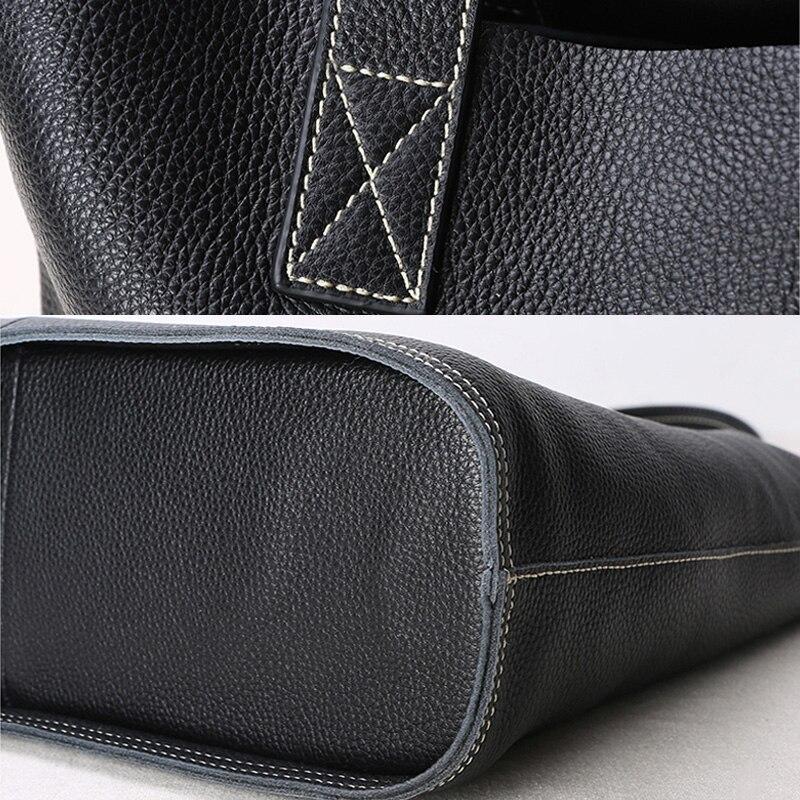 Image 5 - High Quality Women Luxury Genuine Leather Handbag Lady Simple Fashion Casual Shopping Bag Large Capacity Cowhide Shoulder Bagsfashion shoulder bagsshoulder bagsbag f -
