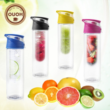 800ml Cycling Sport Fruit Infusing Infuser Water Lemon Bottle Juice Bicycle Health Eco-Friendly BPA Detox Bottle Flip Lid(China)