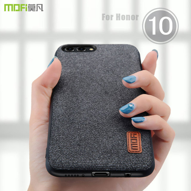 cheaper 0b989 1bf67 US $8.69 13% OFF|honor 10 case cover MOFI for huawei honor 10 fabrics Case  for honor 10 Back Cover Case Soft Silicone full Cover frosted Case -in ...