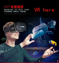 VR HERE NEW Virtual Reality 3D VR Glasses Head Mount Gear Headset for 3.5″~6″ Phone with Bluetooth Remote