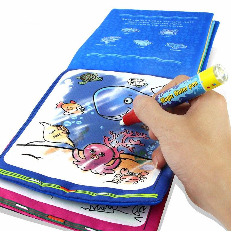 Рисунок книга Магия воды Kids Животные рисунок книги с Magic Pen детские развивающие Doodle картина доска окраска Рисунок Игрушки