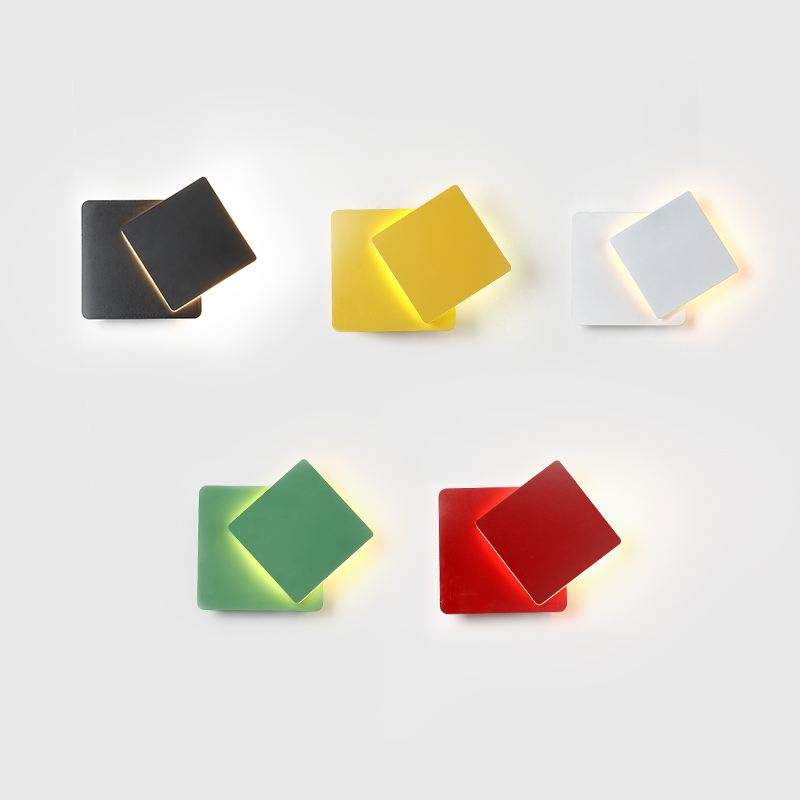 Здесь продается  Nordic modern simple creative wall lamp colorful macaron ceiling mounted lamp corridor and kids room decoration LED wall Light    Свет и освещение