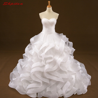 Vintage Wedding Dresses Ball Gown Sweetheart Ruffle Wedding Gown Weding Bridal Bride Dresses Weddingdress