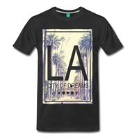Smiley World Los Angeles City Of Dreams Men S T Shirt Print T Shirt Harajuku Short