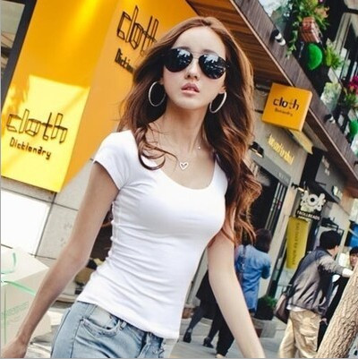 HTB1S rwGVXXXXbIXVXXq6xXFXXXO - Summer Casual T Shirt Women Tops Fashion Slim Female Short-Sleeve