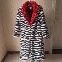 Female DJ Singer Performance Clothing Europe Fashion 2ne1cl Leopard Black And White Red Imitation Fur Jackets Women Long Coats