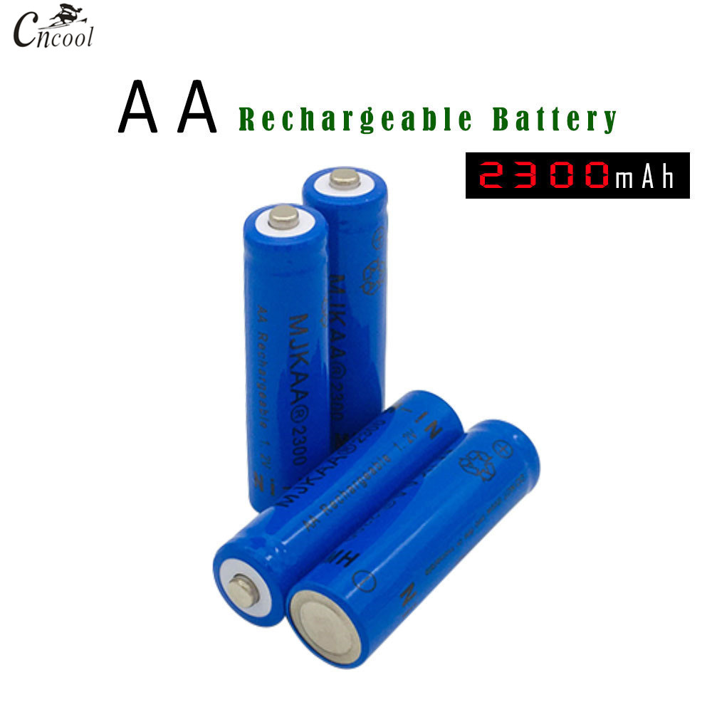 NEW Cncool 4pcs/lot 2300mAh AA Rechargeable Battery 1.2V Ni-MH Recharge Batteries for Toys Camera Controllers