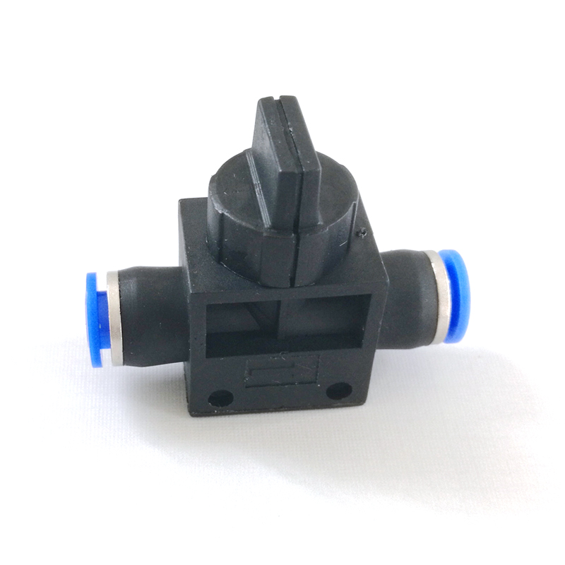 1pcs 6mm One Touch Fitting Pneumatic Connector Hand Valve HVFF6 6mm to 6mm one touch ends quick fitting connector 4 pcs