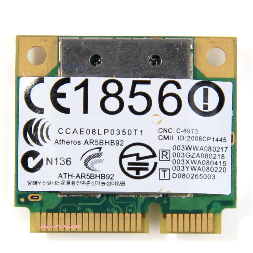 SSEA for Atheros AR5BHB92 AR9280 2.4G/5GHz 802.11a/b/g/n Wireless wifi half mini pci-e Card for DELL/Toshiba/Acer/Sony/ASUS