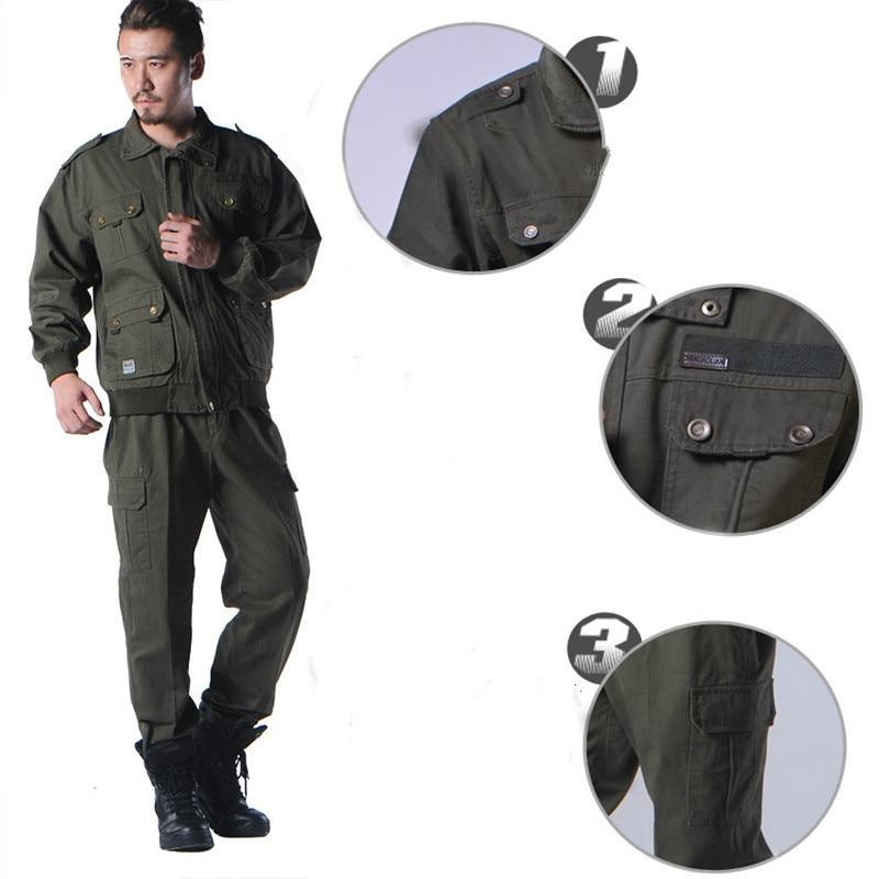 Военная форма открытый рабочий костюм армия тактический бой Куртка карго Брюки Uniforme CS Softair Мужская Рабочая Ткань & Pant Set