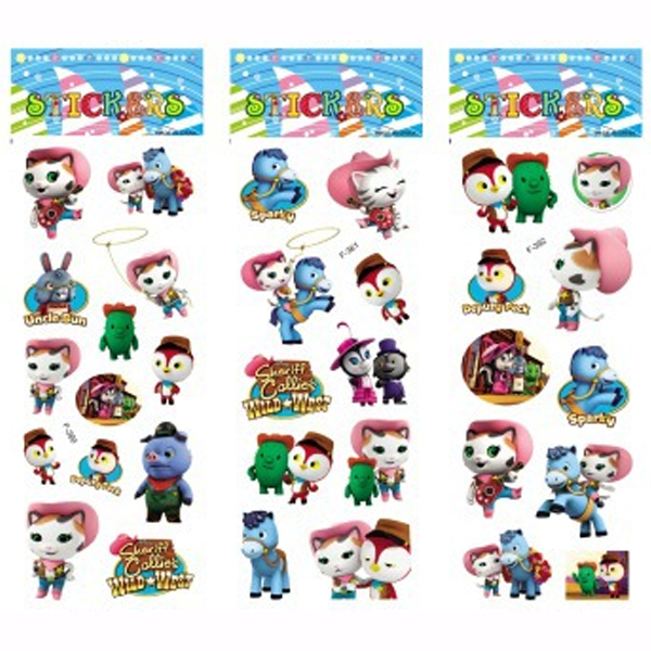 3 Sheets Set Sheriff Callie S Wild West Stickers For Kids Home Decor Diary Notebook Label