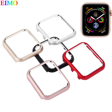 cde9cd760c Dropshipping Case cover For Apple Watch series 4 44mm 40mm iwatch band 4  metal frame protective