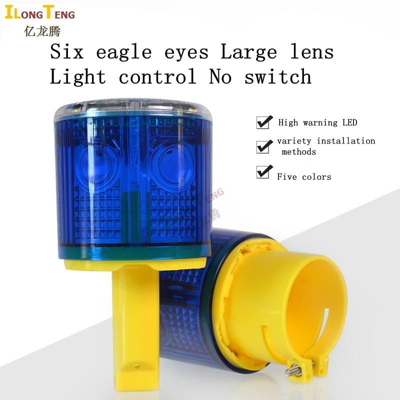 led Solar Warning Light Powered Traffic Light Warning lamp Ship red / yellow / blue / green / white Industrial Road Light light