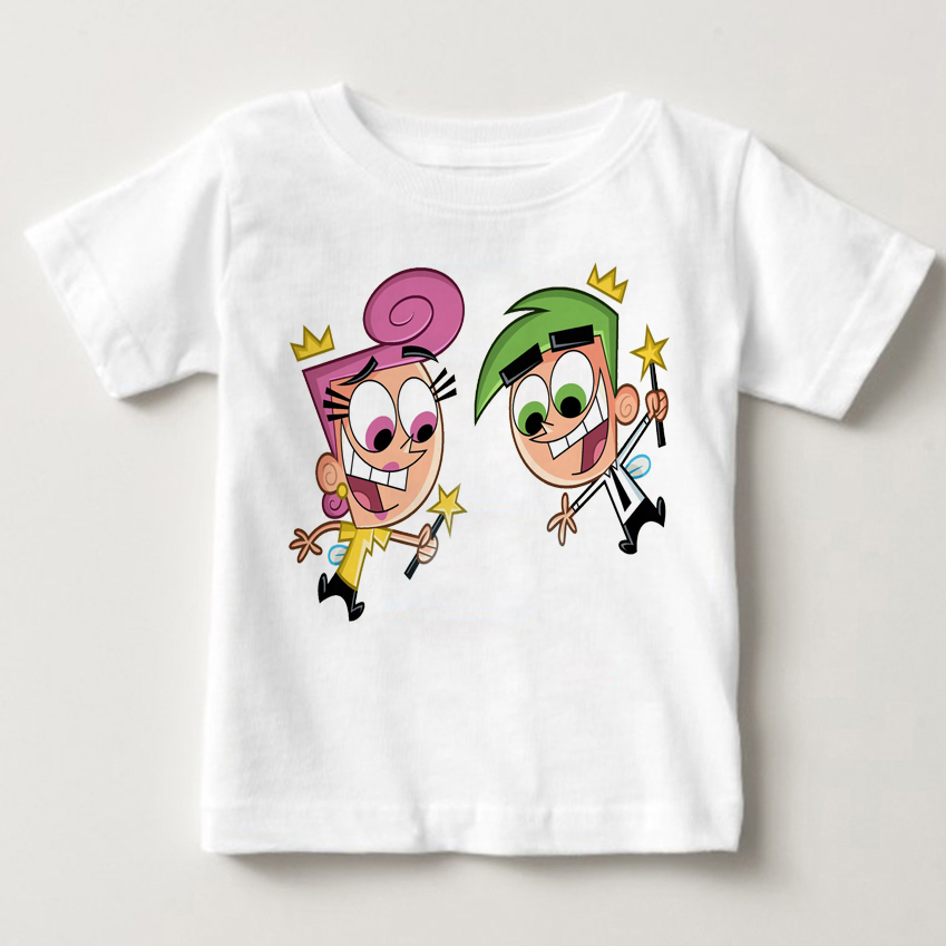 2018 Hot sale The Fairly OddParents short sleeved kids Timmy summer Tshirts boys tops kids and girls tshirt babe kids t-shirt MJ