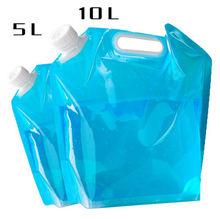 5L/10L Ao Ar Livre Sacos de Água Dobrável Dobrável Potável Dobrável Transportadora Saco de Acampamento Cozinhar Recipiente de Água Tanque de Água Do Carro
