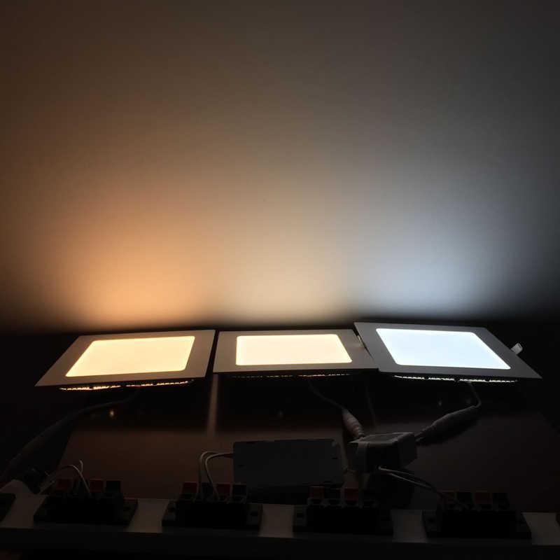 رقيقة جدا 3 واط 6 واط 9 واط 12 واط 15 واط 18 واط 24 واط لوحة إضاءة ليد مربعة النازل مصابيح LED مستديرة أضواء السقف راحة 4000 كيلو مصباح لوح LED محايد