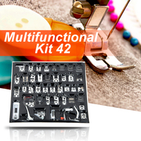 42pcs Multifunction Domestic Sewing Machine Braiding Blind Stitch Darning Presser Foot Feet Kit Set Sewing Foot