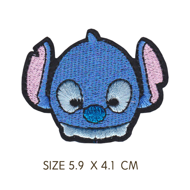 Official Disney Lilo And Stitch Adhesive Sticker Patches Badges For Bags Clothes