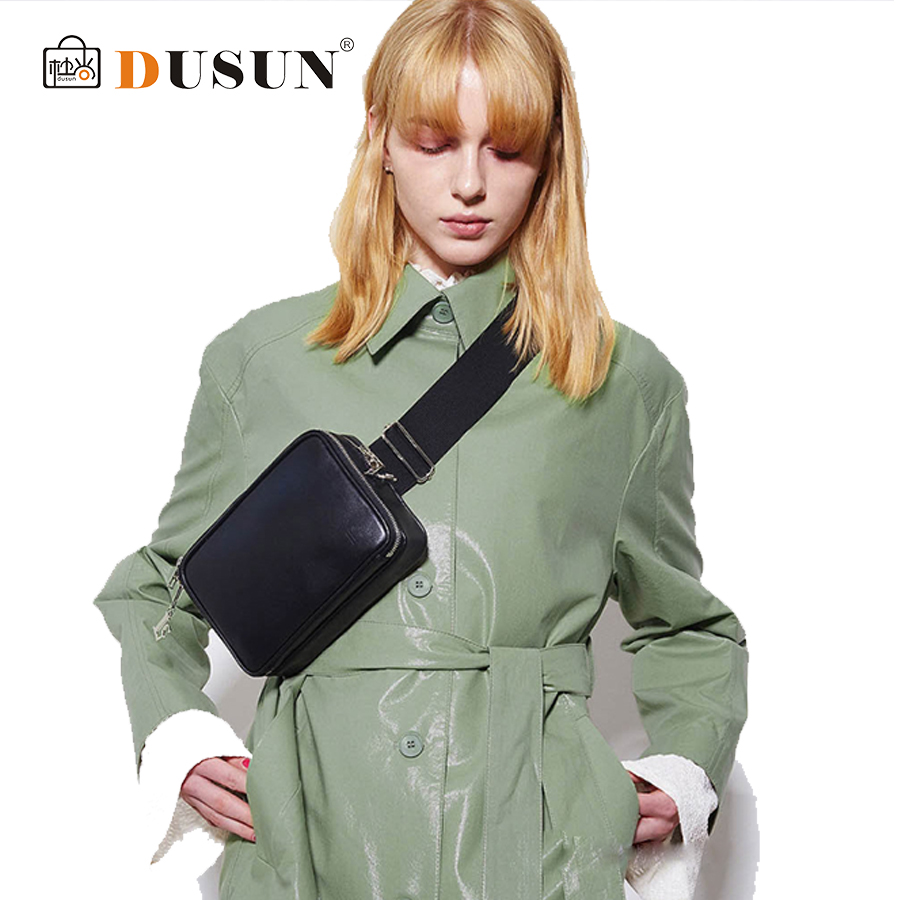 DUSUN Unisex Waist Bag Women Fanny Packs PU Leather Casual Solid Pillow Ladies Waist Packs Chest Pack Famale Bolsa For Black Sac недорго, оригинальная цена