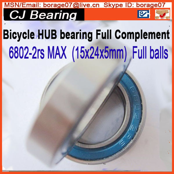 6802 2rs MAX Hub bearing full complement balls bearing 6802-2rs max 15x24x5mm bicycle suspension pivot point bearing 6900 2rs max 10 22 6 mm full complement