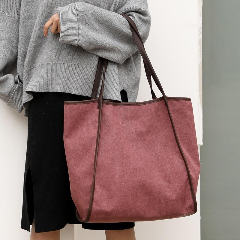 Borse Spalla Sacchetto gray Bag Qualità Femminile Di purple Per Vfemage Donne Capacità Alta Le coffee Crossbody Signore Delle Tela Del Nuove Black Grande Shopping 5qw4p