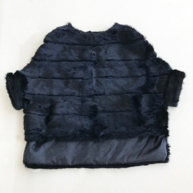 Abrigo de piel de conejo para mujer, chaqueta de piel de manga de murciélago, abrigo de piel Real holgado corto Rosa Natural para mujer WSR451