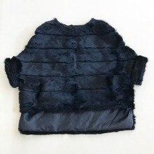 Newest Rabbit Fur Coat Bat sleeved Fur Jacket Womens Autumn Winter Natural Pink Short Loose Real Fur Coat Female WSR451