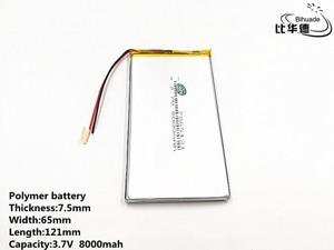 Image 4 - Хорошее качество, 3,7 в, 8000 мАч, 7565121 полимерный литий ионный/литий ионный аккумулятор для игрушек, портативного зарядного устройства, GPS,mp3,mp4