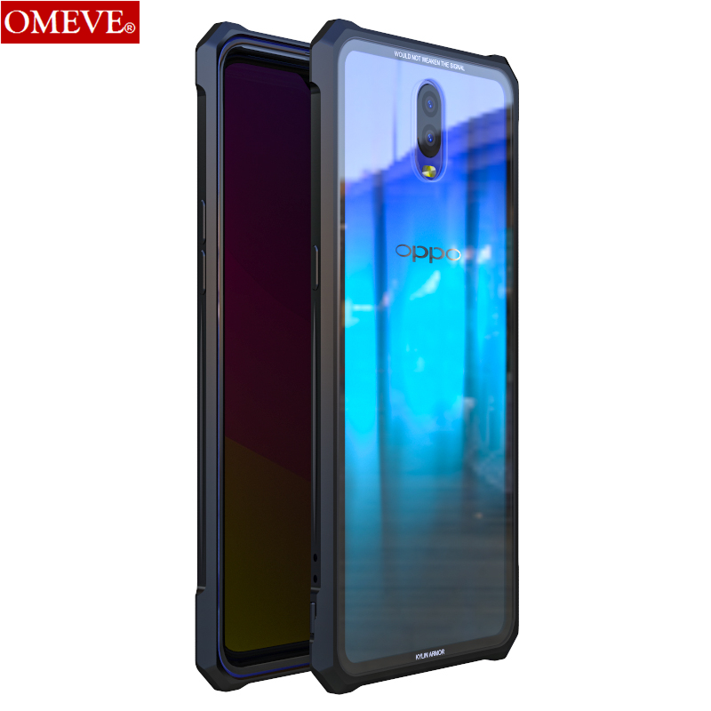 Aluminum Alloy Metal Frame And Transparent Tempered Glass Back Cover Bumper Case For OPPO R17 RX17 Pro R 17 Pro