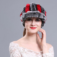 Trendy Casual Beauty Women Hat Autumn Winter Warm Visors Female Wrasse Rabbit Hair Knitted Accessory All