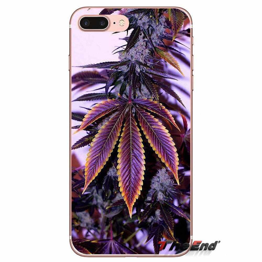 Силиконовый чехол с откидной крышкой для iPhone X 4 4S 5 5S 5C SE 6 6 S 7 8 плюс samsung Galaxy J1 J3 J5 J7 A3 A5 2016 2017 лист препараты листья сорняков