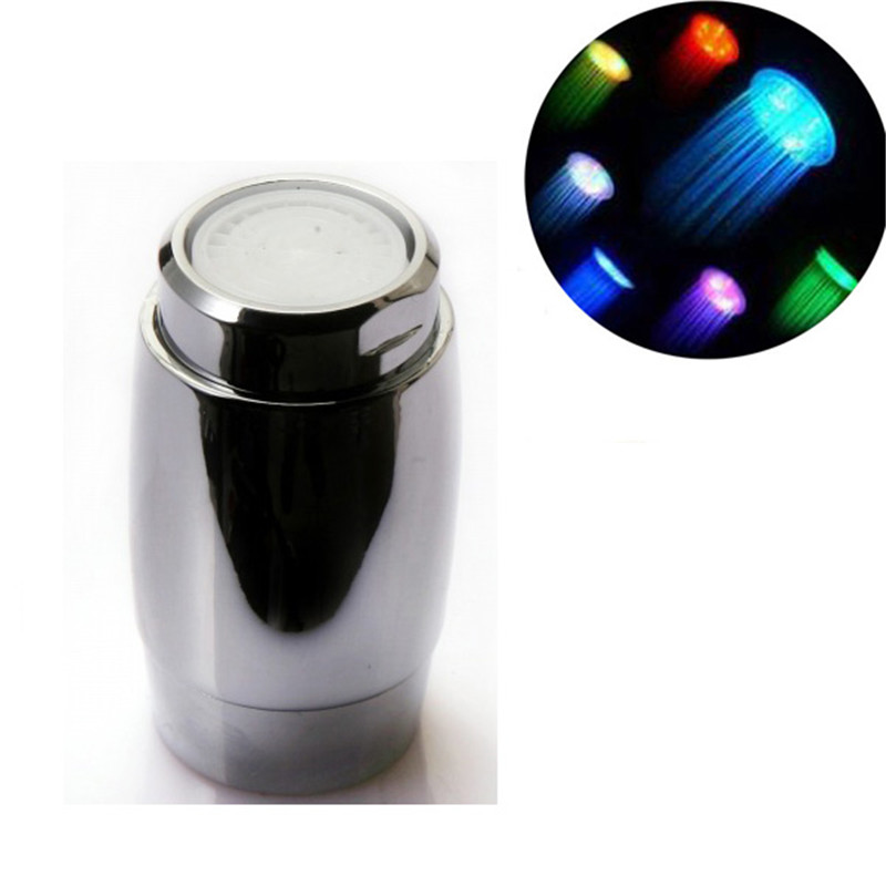 Multicolor fast flashing Non Battery needed LED Color faucet light for mothers day wholesale gifts with blister packing