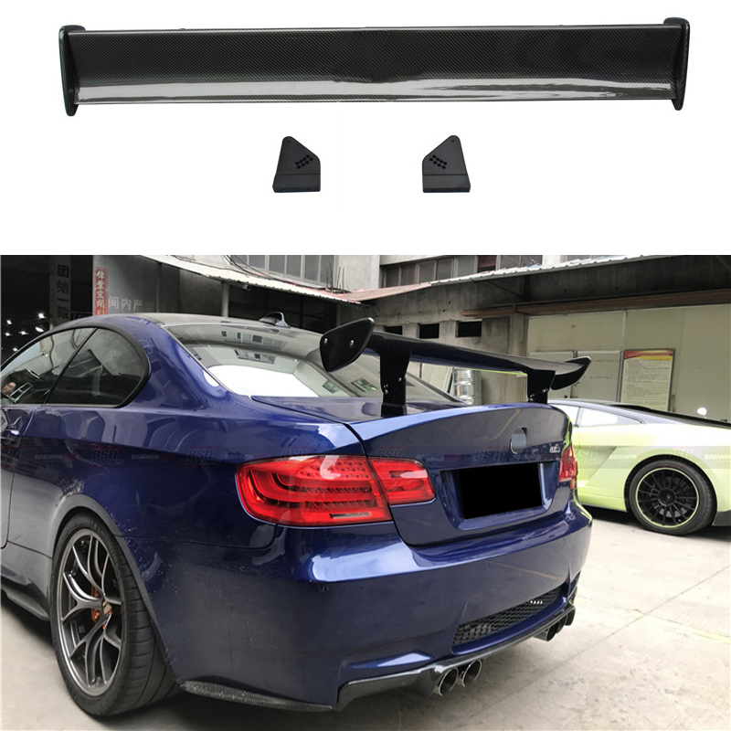 Car Styling GTS Carbon Fiber Modified Rear Spoiler Tail Wing For BMW 1M M3 E82 E87 E90 E92 E93 F30 F10 Revozport Style image