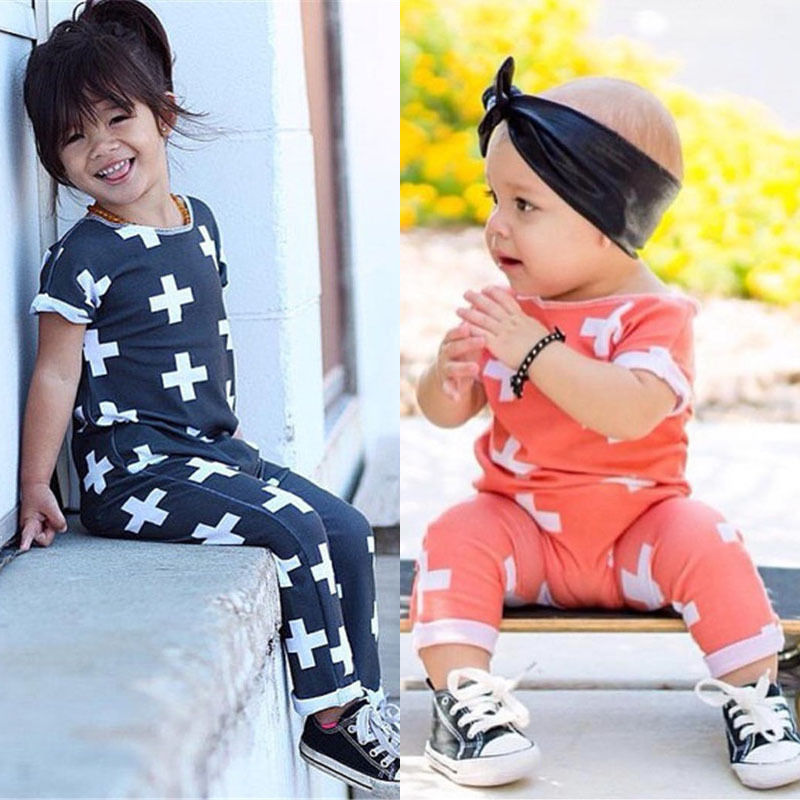 Cute Newborn Baby Girl Clothes 2017 Summer Short Sleeves Infant Bebes Plus Print Baby Romper Cotton Clothes Outfits
