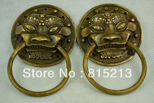 Bi00264 Collectibles Décoré de Travail Manuel Vieux Bronze Sculpture Dragon Vin Tasse