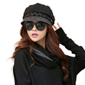 Women Newsboy Cap Winter Hat Cabbie Painter Patchwork Visor Beret
