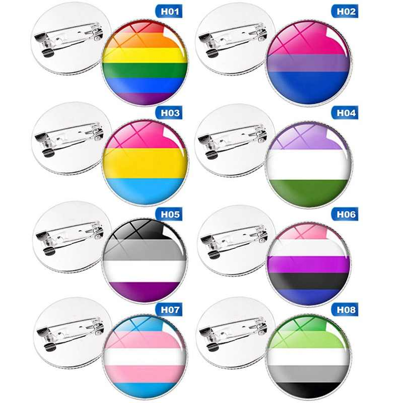 LGBT pins Transgender Pride Regenboog Gay Intersex Aseksuele Pride reversspeldjes Liefde is Biseksuele Pansexual pins panromantic tin badge