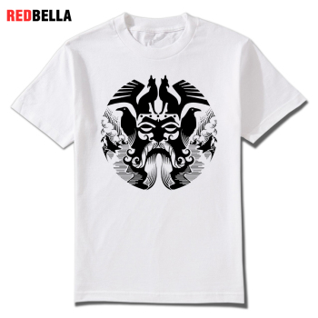 REDBELLA 2018 New Men Tees Odin Vikings Valhalla Asgardian Nordic Printed Cool Man T-shirts Shapes Magical Punk Clothes Hot
