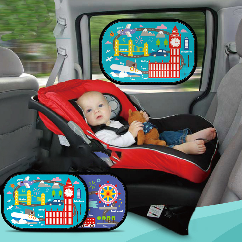 2pc Kid Car Side Window Sun Shade Cover Sunshine Protector font b Board b font Summer
