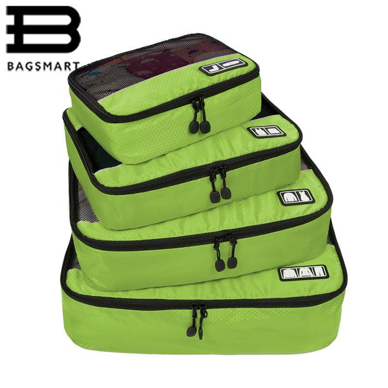 BAGSMART Nouveau Respirant Voyage Sac 4 set Emballage Cubes Bagages Emballage Organisateurs Week-End Sac Sac À Chaussures Fit 23 Carry sur Valise