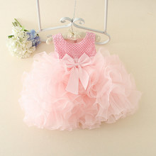 Girl Summer Dress Ball Gown Sleeveless Dress Party Birthday Casual Clothing Princess Lace Bow Sleeveless Wedding
