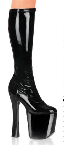 20CM High Height Sex boots Women's Heels  Bulky Heel  Platform Knee-High Boots    No.2004 sex sex 20 pk